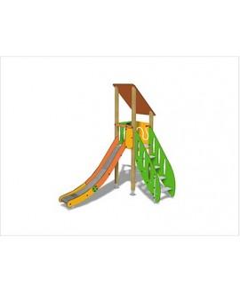 Togo G1054 legno con plinti 855 PREMONTATO