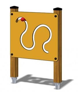 Pannello Attivita Zigulì legno con plinti h855mm