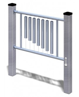 Ding-a-ling alluminio con plinti 855 h
