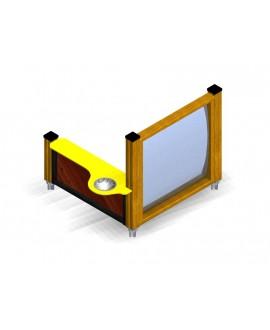 Banchino + Specchio con plinti H855 mm