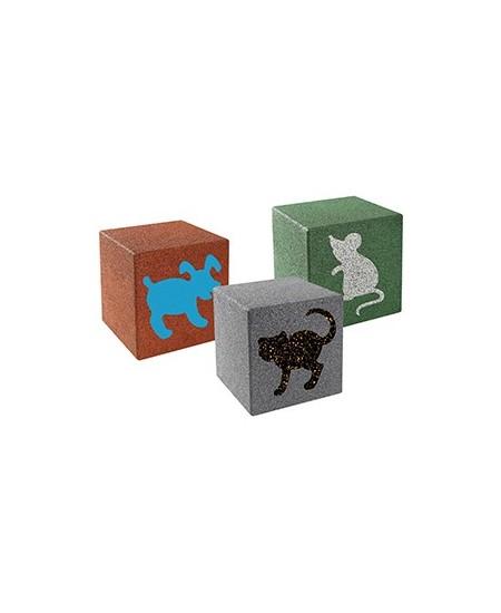 Cubo in gomma con disegni d'animali