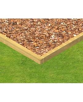 Delimitazione area di sicurezza con assi legno