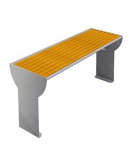 Tavolo Jesolo inox con piano in pino