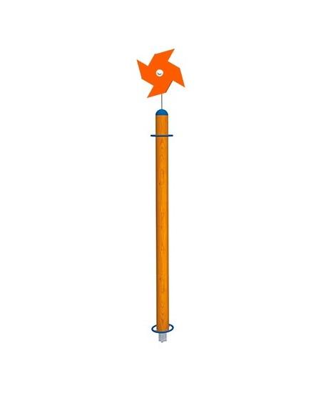 Palo Girasole con girandola arancio con plinti h855 mm