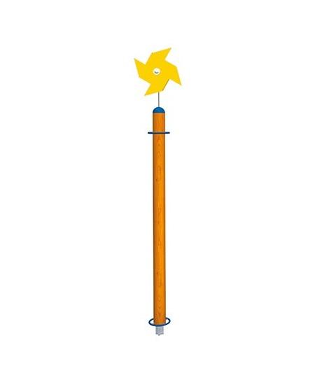 Palo Girasole con girandola gialla con plinti h855 mm