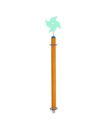 Palo Girasole con girandola verde acqua con plinti h855 mm