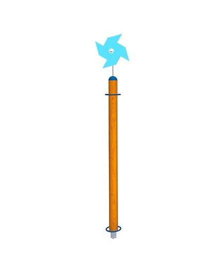 Palo Girasole con girandola azzurra con plinti h855 mm