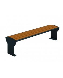 Panchina Jesolo in legno duro pregiato smontata