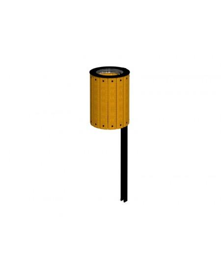 Cestino ISIDORA giallo con anello