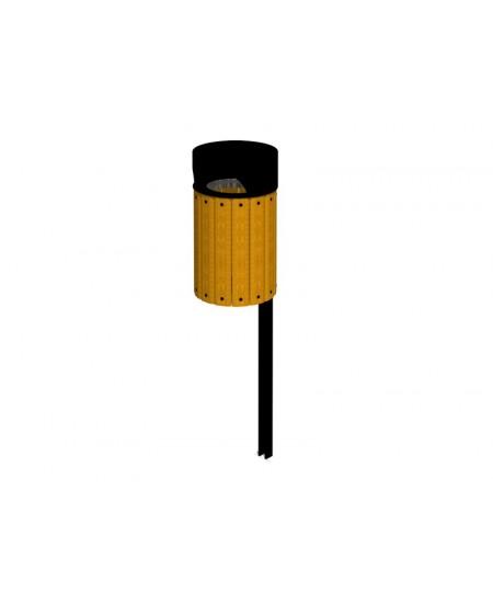 Cestino ISIDORA giallo con coperchio