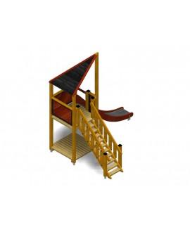 Modulo Più 151/018 con plinti H855 mm