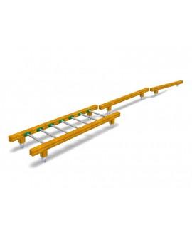 Tris di attrezzi di equilibrio con pioli in inox con plinti h855 mm