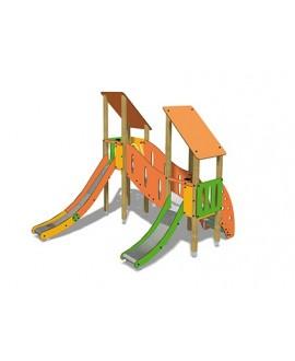Togo B2002 legno con plinti h 855 PREMONTATO