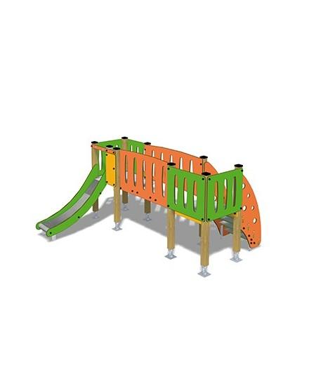 Togo B2003 legno con plinti 855 PREMONTATO