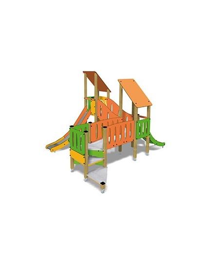 Togo B3050 legno con plinti 855 PREMONTATO