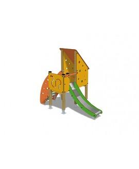 Togo D1057 legno con plinti 855 PREMONTATO