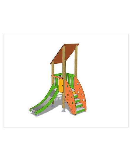 Togo G1056 legno con plinti 855 PREMONTATO