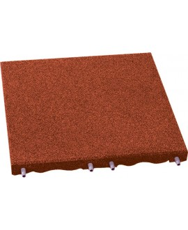 Pavimento 50x50x3 rossa mt 1 h max di caduta