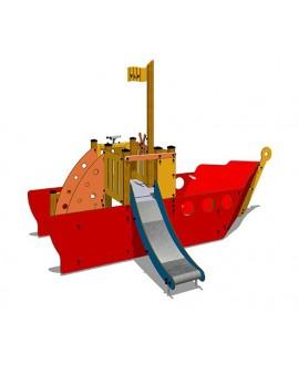 Pilotina HPL/legno con plinti h855mm premontata