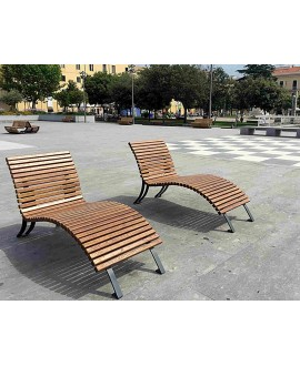 Chaise longue Formia con assi in frassino