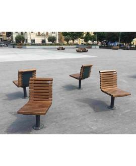 Seduta Esperia con assi in frassino