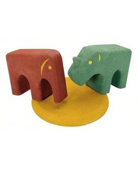 Pedana in gomma per elefante e rinoceronte