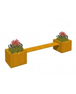 Combinazione di due fioriere con seduta