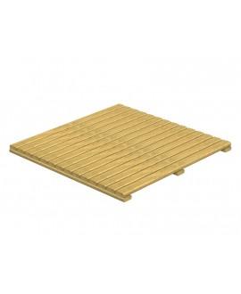 Pavimento in legno impregnato a quadrotti 100x100x5cm