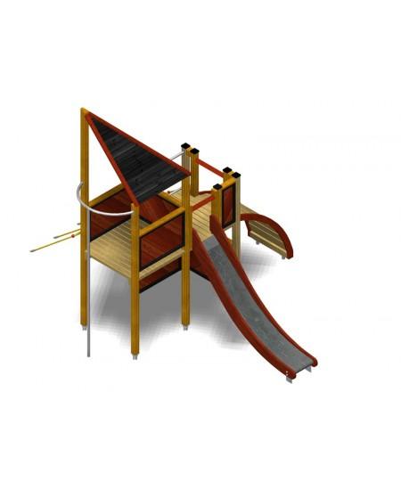 Modulo Più 151/026 con plinti H855 mm