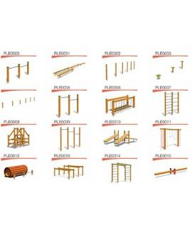 Policrosalus 16 con pioli in legno e cartelli in italiano