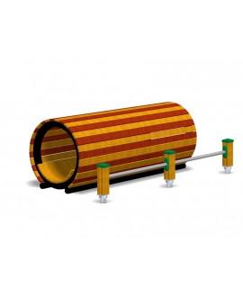 Tunnel con staggi per esercizi dorsali e ventrali con pioli inox con plinti h855