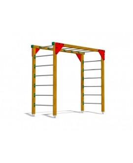 Ponte con pioli per esercizi di arrampicata, pioli in inox con plinti h855 mm
