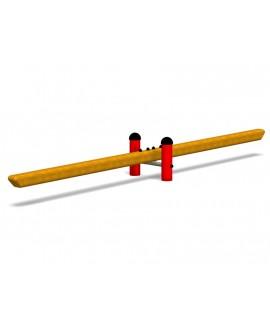 Trave oscillante per esercizi di equilibrio con plinti h855 mm